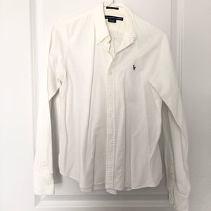 Ralph Lauren - cotton slim white shirt -medium